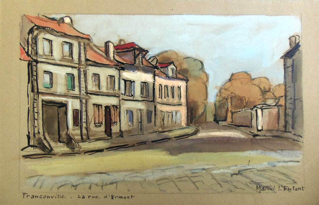 aquarelle rue d'Ermont