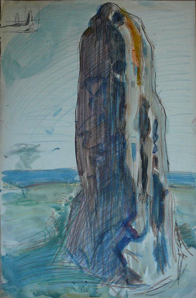 Groix,menhir de Kerdévan