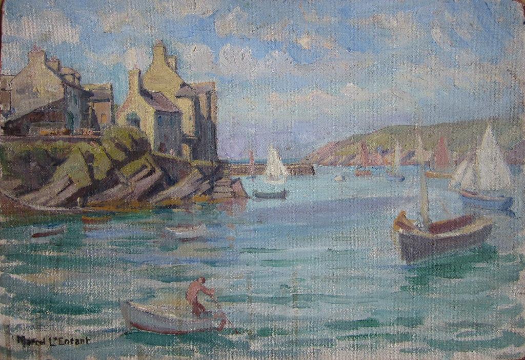 Le Conquet, sortie du port