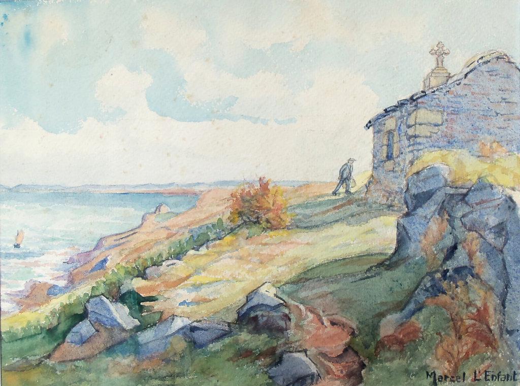 Chapelle sur la côte bretonne
