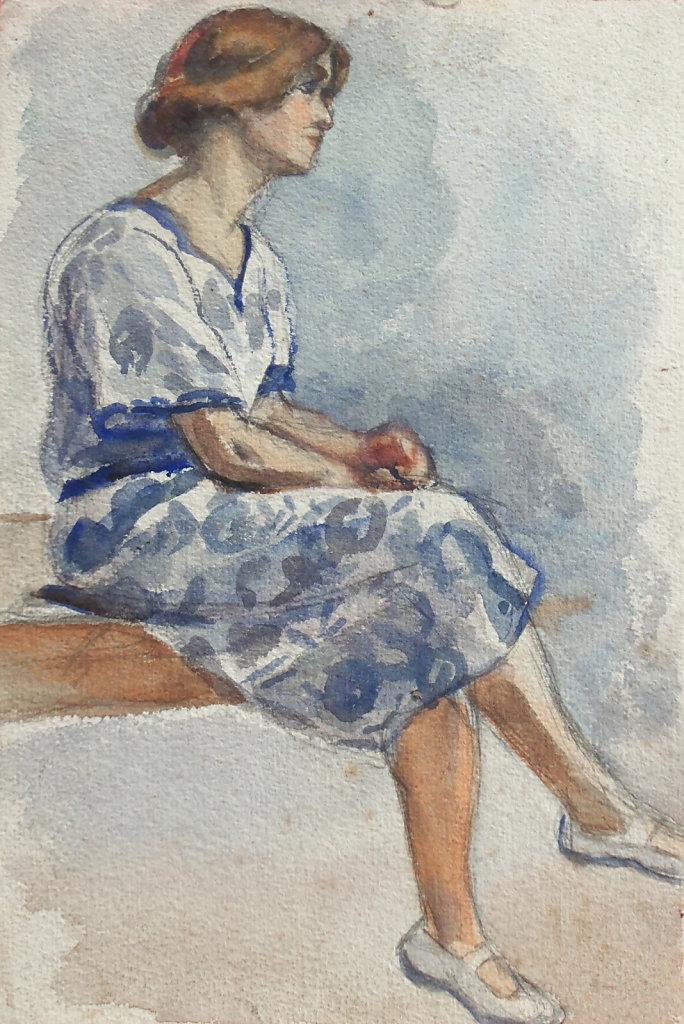 Jeanne pensive