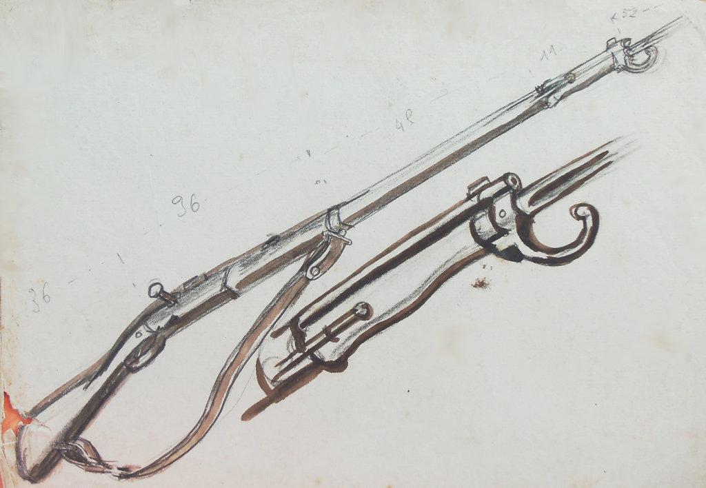 Fusil 7-15 avec baïonnette