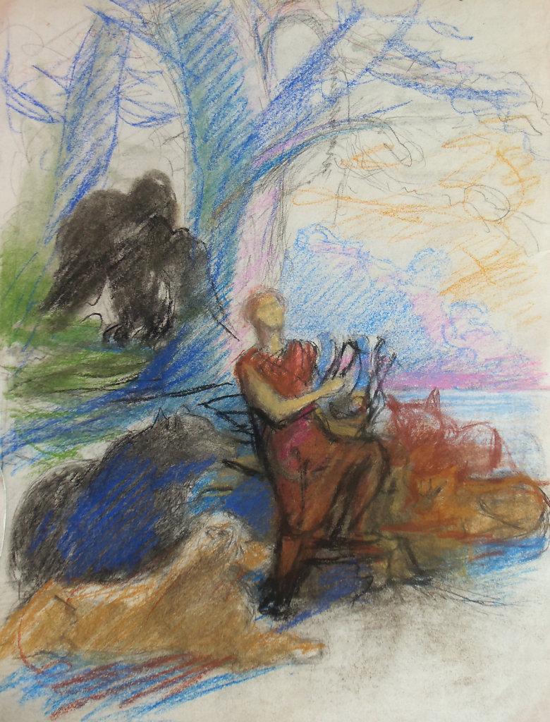 Orphée jouant de la lyre