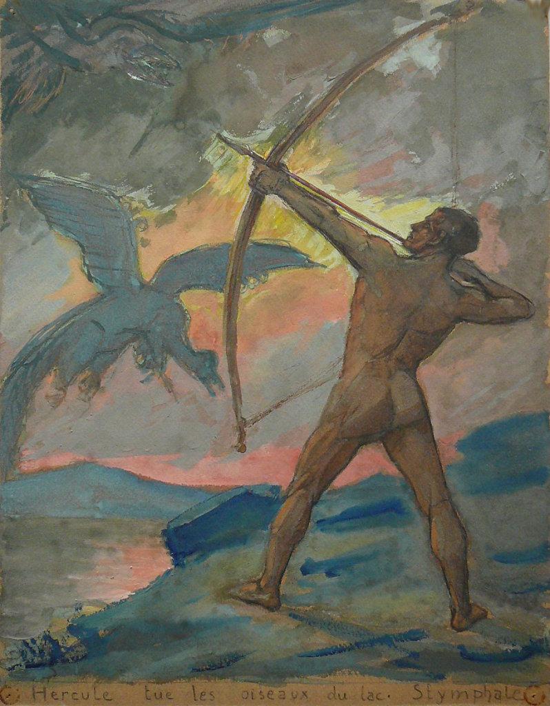Hercule tue les oiseaux du lac