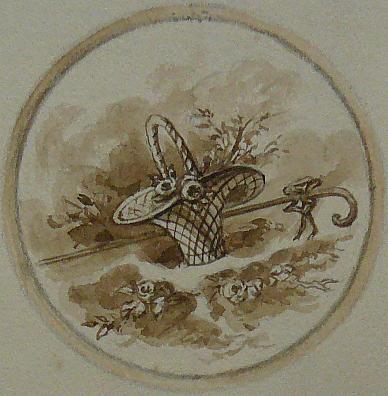 médaillon  pour porcelaine