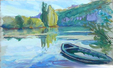La Seine, du côté des Andelys