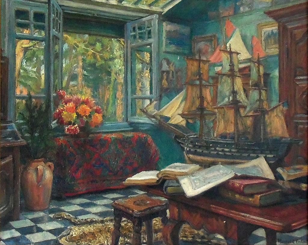 Salle de séjour de la maison du peintre