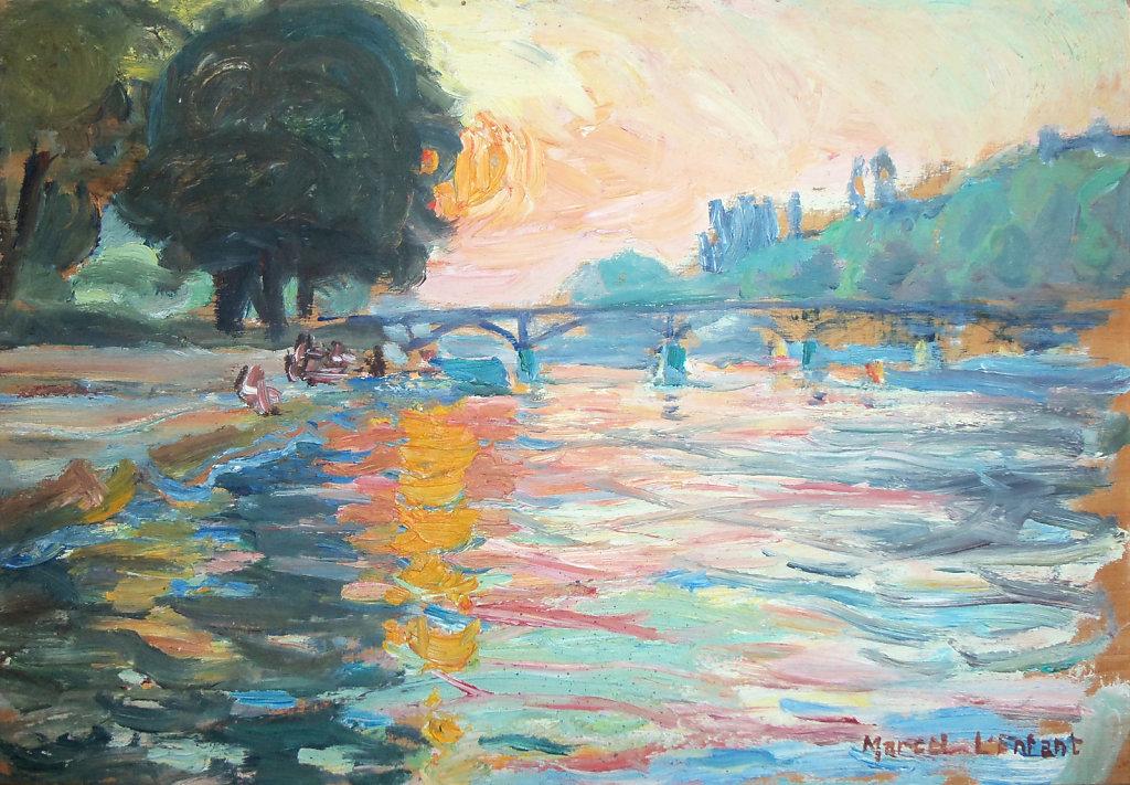 Soleil couchant sur le Pont des Saint-Pères