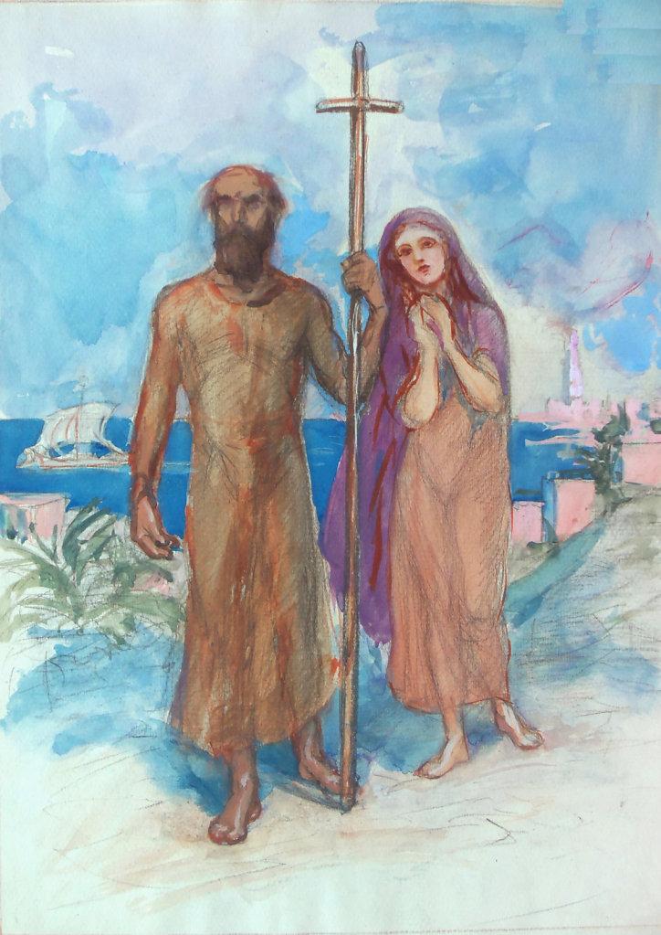 Saint arrivant à Alexandrie