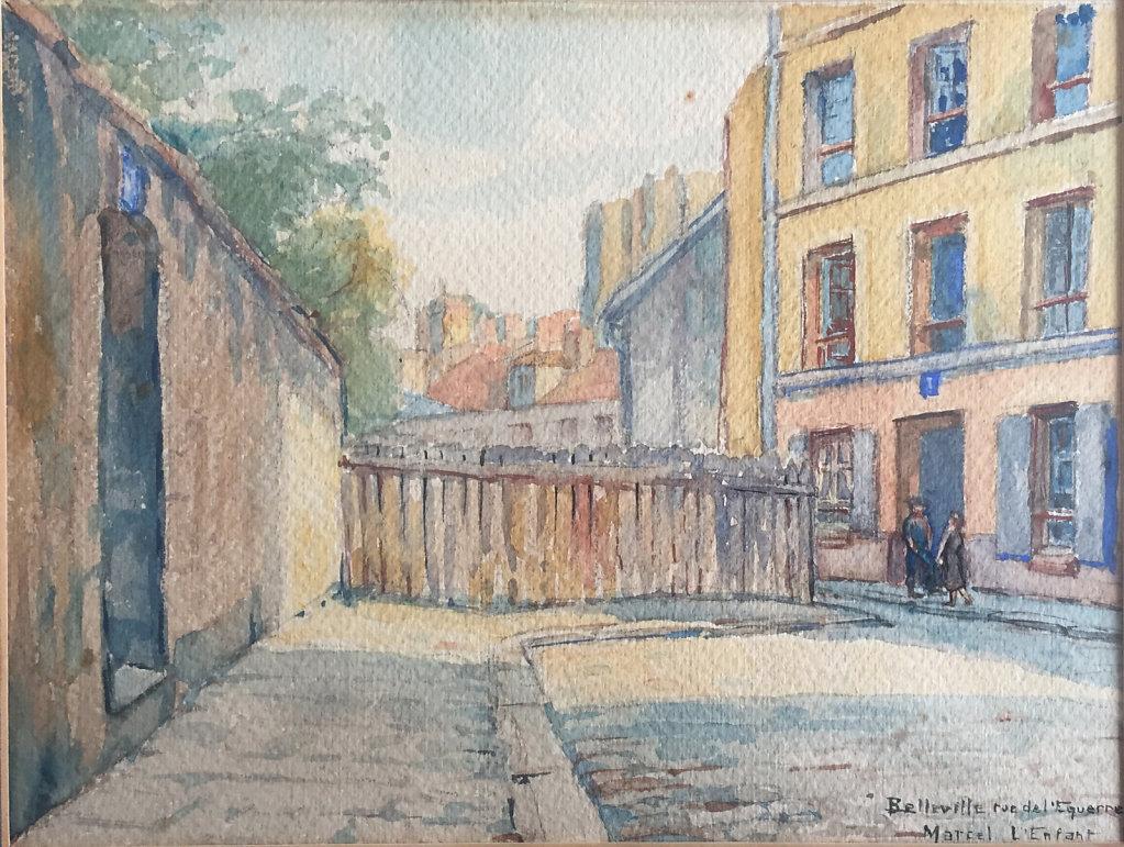 Paris Belleville rue de l'Equerre